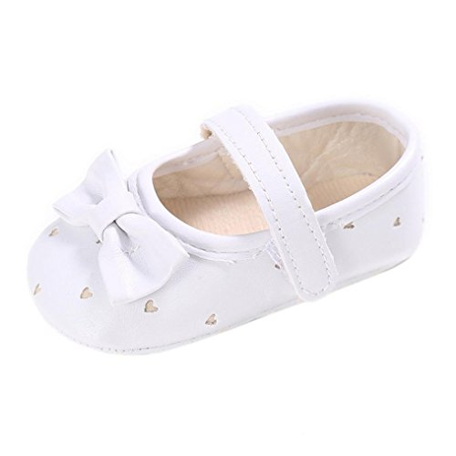 Igemy 1Paar Kleinkind Mädchen Krippe Schuhe Neugeborene Blume Soft Sohle Anti Rutsch Baby Sneakers White