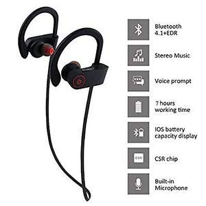 Valsh QC-10 Bluetooth Earphone Wireless Headphones for Mobile Phone Sports Stereo Jogger,Running,Gyming Bluetooth Headset Compatible with All Units(Multicolour) Image 3