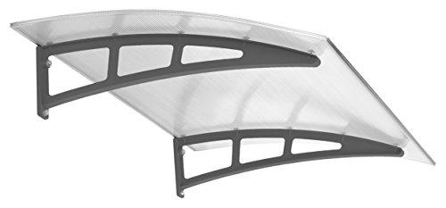 Schulte Haustür-Vordach Überdachung, 138x95 cm, 10 mm Polycarbonat-Hohlkammerplatte,...