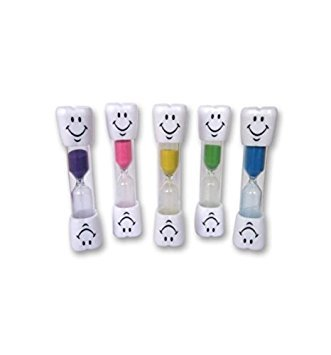 Kids Toothbrush Timer ~ 2 Minute Smiley Sand Timer for Brushing Children's Teeth (Pink)