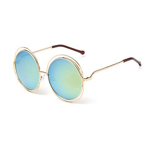 FHXTWB Frauen-runde Draht-Sonnenbrille für weibliche Sonnenbrillen Uv400