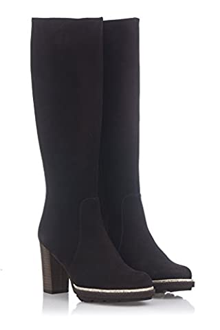 Laura Moretti High Boot Below The Knee And Sole Heeled Platform, Bottes de moto femme