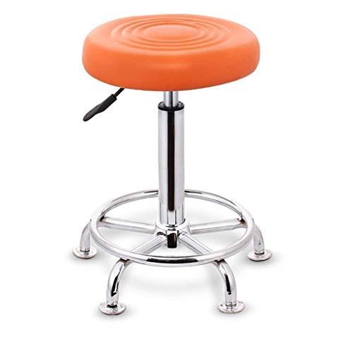 YJLGRYF Hoher Hocker, höhenverstellbar Gepolsterter Hebesitz Bar Frühstück Home Kitchen Counter Stühle Counter Height Swivel Seat Wohnzimmer Küche (Color : Orange) -