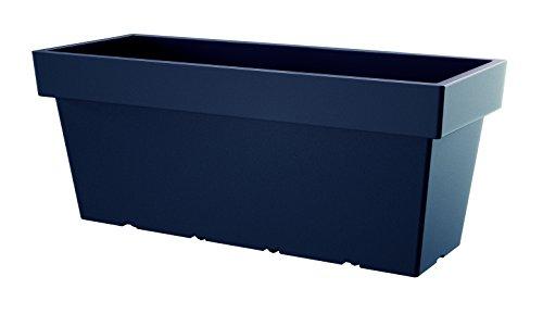 XXL Pflanzkasten mit ca.100 cm Breite in Anthrazit. Aus robustem Kunststoff, mit Rollen. Maße: 99,2 x 39 x 41 cm.