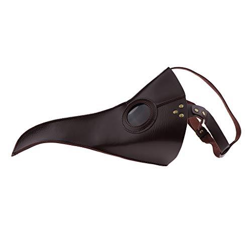 F Fityle Männer Schnabelmaske venezianisch Pest-Maske Doktor Arzt Kopfmaske Lange Schnabel Makse Vogelmaske für Halloween Prop