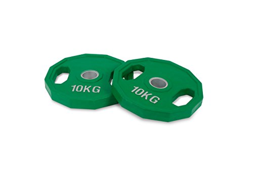 Kroon-10kg-Discos pesa olímpica-capa goma-50mm-conjunto