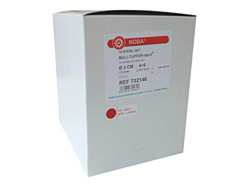 Mulltupfer-steril NOBA Tupfer-SETs 100 Tupfer 3,0cm -