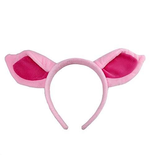 Schwein Kit Tier Kostüm - Bescita1 Tier Set Ohr Haarband Rosa Schwein Haarband Nase Zubehör für Kinder Erwachsene Party Cosplay Weihnachten Kostüm (Hair Hoop)