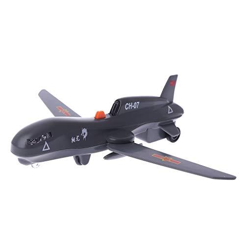Qiuxiaoaa Mini Hélicoptère Militaire Drone Modèle Rétractable Jouet Son Lumière 3D Véhicule Puzzle Enfants Jouets Éducatifs Enfants Cadeau Drone