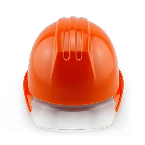 WYNZYSLBD Arbeitshelm, Männlicher Und Weiblicher Baustellenkopfschutz, Schutzhelm Mit Kinn - Orange (Männliche Bauarbeiter Kostüm)