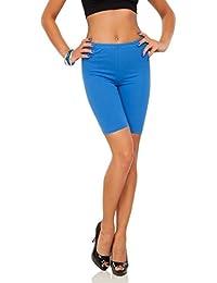 FUTURO FASHION Legging en Coton 1/2 Longueur sur-Genou Shorts Pantalon de Cyclisme Casual Sport Actif Grandes Tailles 36-56 EU LK