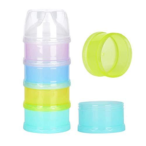 Milchpulver-Portionierer, 4-Schicht Milch pulver Spender Zufuhr, Säuglingsnahrung Kasten Tragbare für Reise im Freien/Nachtzeit Krankenpflege,BPA-frei