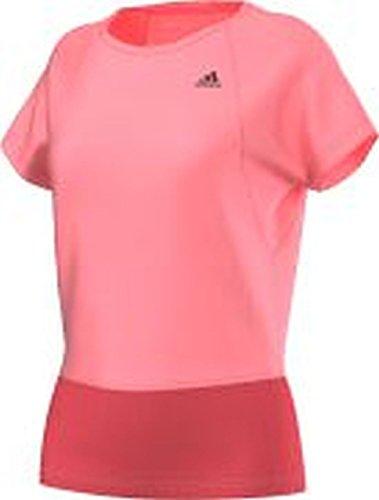 Maglietta da donna adidas GS rosa Fitness Top Red Small