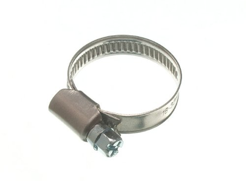 200 X HOSE CLAMP JUBILEO CLIP 18MM - 32MM SS ACERO INOXIDABLE