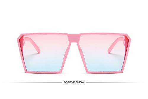 WSKPE Sonnenbrille,Sonnenbrille Mädchen Junge Kinder Sonnenbrille Mit Rechteckigem Rahmen Uv400 Brillen Fashion Kids Eyewear Rosa Rahmen Rosa,Blaue Linse