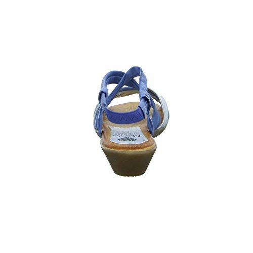 Marila 737/IN-25 Damen Sandalette bis 30mm Absatz Blau (Blau)
