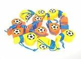 12 St.Trillerpfeife Pfeife Kinder Fußball Fan Party