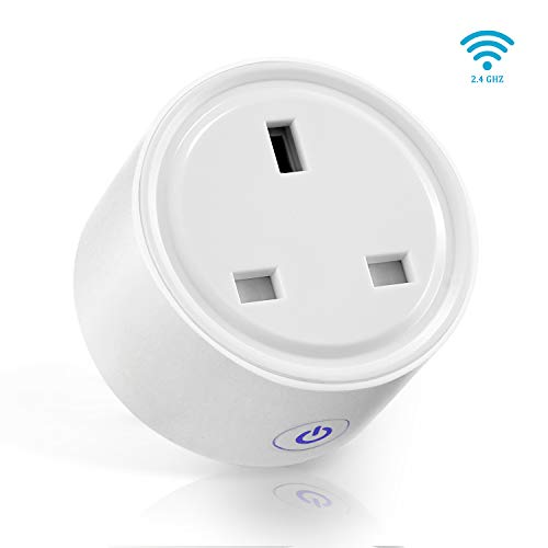 Smart Plug AISIRER Mini WiFi Socket Compatible with Amazon Alexa Google Assistant Remote Control Timer Plug Switch Smart Outlet No Hub Required Support IFTTT(UK Plug)