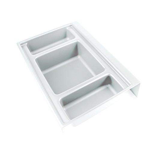 Emuca Basis für Lagerplätze Onda Tiefe 350 mm aus weißen Kunststoff