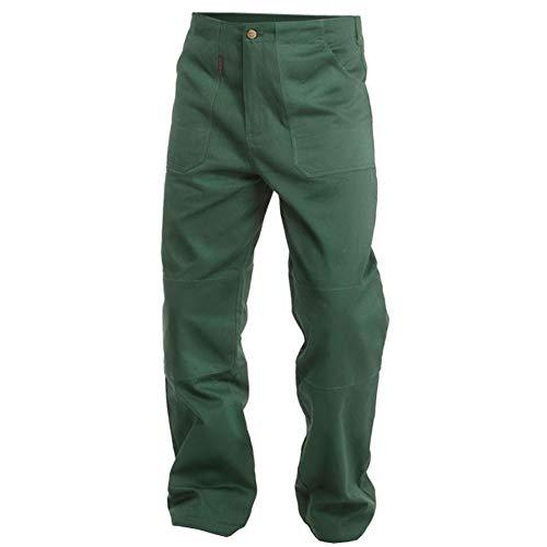 Logista Handel Charlie Barato® Gärtnerhose - waschfeste Bundhose grün - robuste Arbeitshose (52)