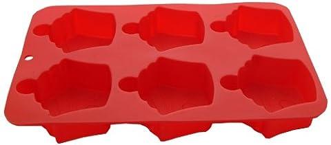 Mason Cash Silikon-Backform für Cupcakes mit 6 Mulden, Rot