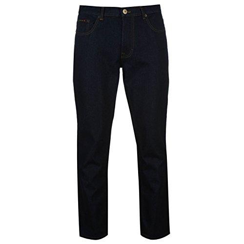 pierre-cardin-hombre-liso-vaquero-pantalones-cremallera-ropa-vestir-casual-indigo-40w-r