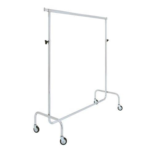 Ronnieart stender appendiabiti rella semplice da 150 cm stand guardaroba (altezza regolabile da 135 a 208 cm)