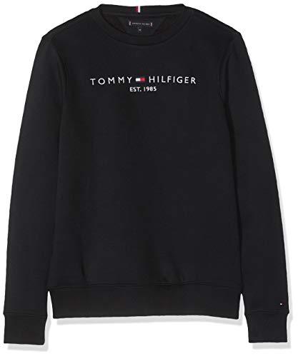 Tommy Hilfiger Jungen Essential CN Set 1 Sweatshirt, Schwarz (Black Bbu), 164 (Herstellergröße:14)