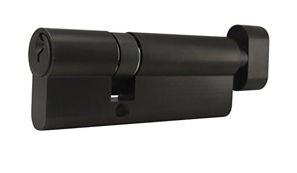 Oil Rubbed Bronze Key /& T-Turn INOX CYEU-3550TK-10B Euro Cylinder Schlage C Keyway