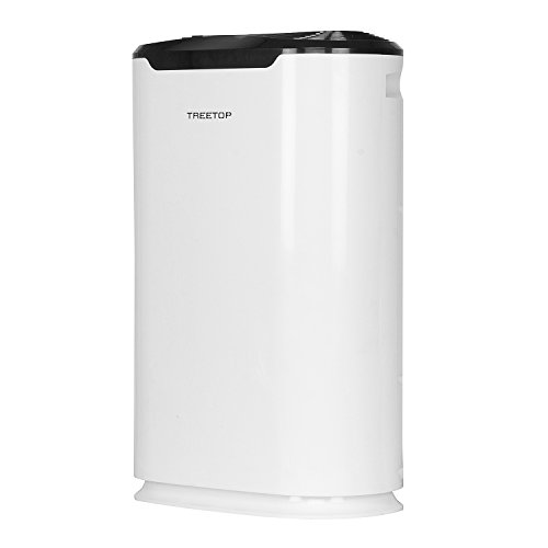 TREETOP WITH DEVICE Plastic Air Purifier for Home with True Hepa Active Charcoal Filter