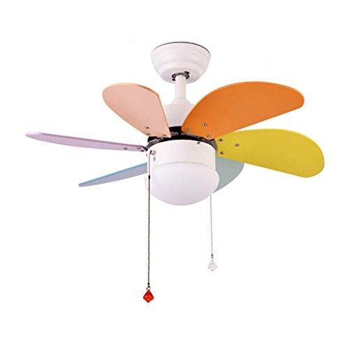 Ventilatore a soffitto con luce, lampadario fan della camera dei bambini lampadario ventilatore a casa led balcone ventilatore a soffitto luce camera da letto luce ventilatore a soffitto a+