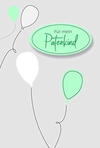Karte Patenkind, Geldgeschenkkarte, Geldgeschenk, Glückwunschkarte Patenkind, Karte mit Umschlag, Motiv: Ballons blau