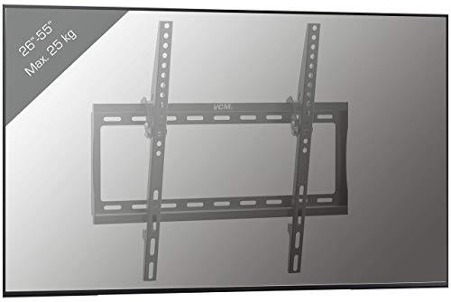 VCM B-FN Support TV Mural Acier, Noir, Taille Unique