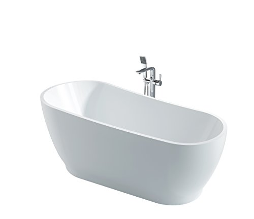 Freistehende Acrylwanne D-8075 weiß