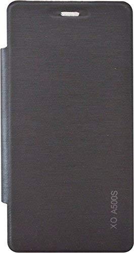 One Click Xolo A500s Back Flip Cover (Black)