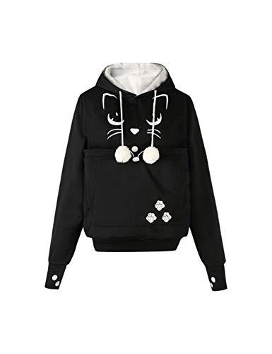 besbomig Unisexo Sudadera con Capucha con Orejas - Sweatshirt Camisa de Entrenamiento Bolso para Perros y Gatos Mascota Transportar Suéter Pullover