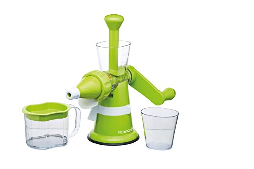 Kitchen Craft Centrifugeuse Manuelle, Plastique, Vert/Transparent, 32 x 32 x 22 cm