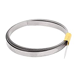 SLB Works 2M 6.6Ft 0.2x6mm Nichrome Flat Heater Wire for Heating Elements