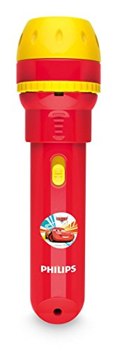 Philips Disney Cars - Proyector y linterna 2 en 1, bombilla LED de 0,1 W, color rojo