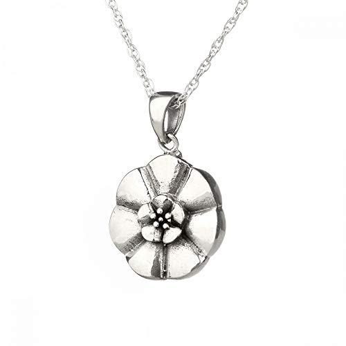 Weisse Rose von Schottland - Kette aus Sterling Silber