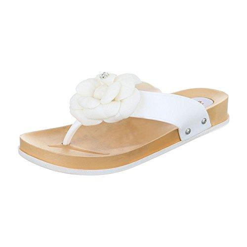 Design toe peep Ital Scarpe Bianco Donna TUqxpBnt