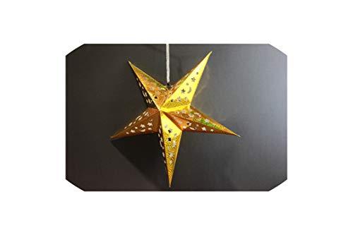 Archiba Wedding Decora Papierlaternen für Babyparty, Dekoration, Sterne, Plissee-Laternen, Hochzeitsdeko, Festival-Zubehör, Laser Gold Star, Einheitsgröße -