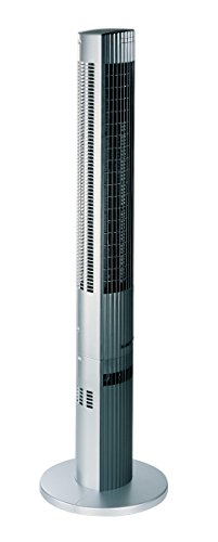 "Trisa Electronics 9313.4610 Turmventilator\""Silent Power\"", silber, 16.5 x 16 x 117 cm"