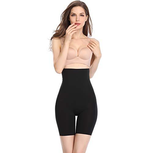 Joyshaper Miederhose Damen Bauch Weg Stark Formend Miederpants mit Bein Hohe Taille Taillenformer Shaper Shapewear angenehme Figurformende Unterwäsche Nahtlose (Schwarz-Light Control, XX-Large) -