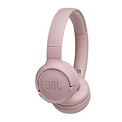 JBL Tune500BT On-Ear Bluetooth-Kopfhörer - Faltbarer, kabelloser Ohrhörer mit integriertem Headset - Musik Streaming bis zu 16 Stunden mit nur einer Akku-Ladung Rosa