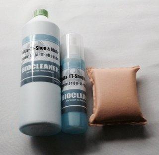 FriJa Belagreinigungs-Set: Biocleaner 1000 ml u. 250 ml und Reinigungsschwamm