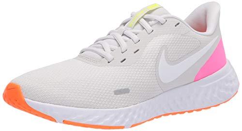 Nike Wmns Revolution 5, Zapatillas para Correr para Mujer, Platinum Tint/White/Pink Blast/Total Orange/Lemon...