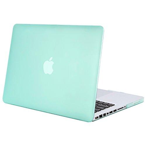 MOSISO Hülle Kompatibel MacBook Pro 13 mit CD-ROM Drive - Ultradünne Plastik Hartschale Hülle Kompatibel Old MacBook Pro 13 Zoll (A1278, Version Early 2012/2011/2010/2009/2008), Minze Grün