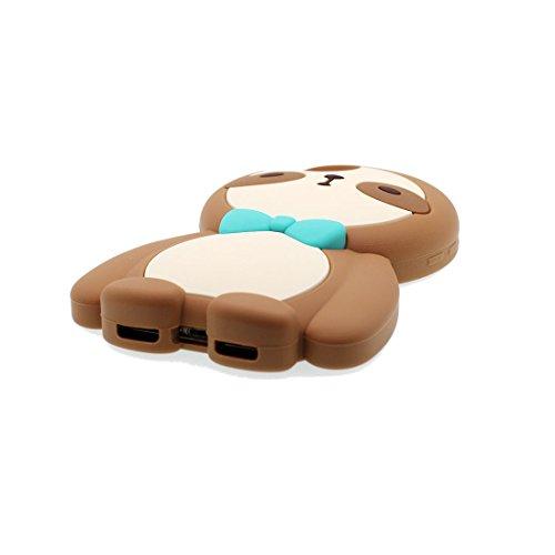 iPhone 7 Plus Custodia, Gel TPU Soft flessibile protettivo indietro leggero Case Cover Skin Bumper iPhone 7 Plus Copertura, Graffi Prova & elegante ( Cartoon Shell coniglio carota ) Marrone 1