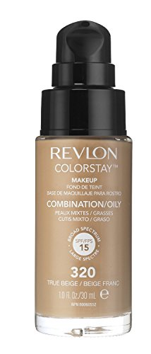 3 x Revlon Colorstay Pump 24HR Make Up SPF15 Comb/Oily Skin 30ml - True Beige